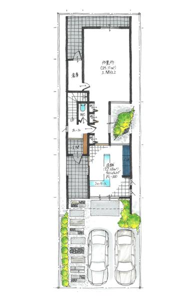 縦長のデザインハウス